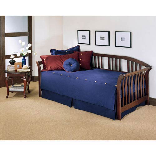 Salem Mahogany Finish Daybed w/ Link Spring and Pop Up