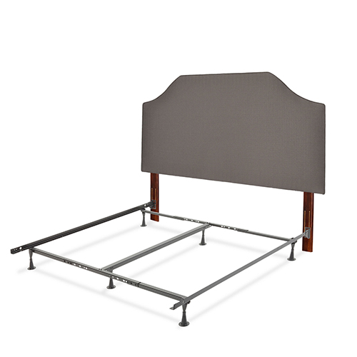 Fashion Bed Group Bordeaux Dolphin Gray Complete Full/Queen Bed with Upholstered Headboard and 45G Steel Support Frame