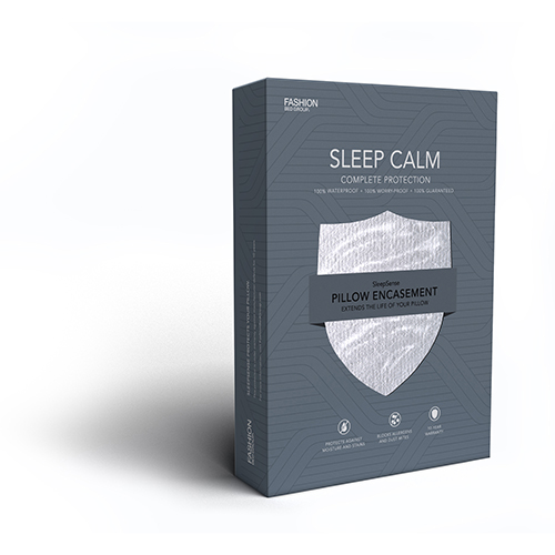 Sleep Calm Standard Pillow Encasement with Stain and Dust Mite Defense