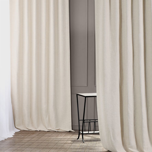 Bellino Cottage White 50 x 108-Inch Blackout Curtain