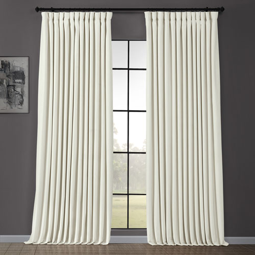 Signature Doublewide Off White 100 x 96-Inch Blackout Curtain