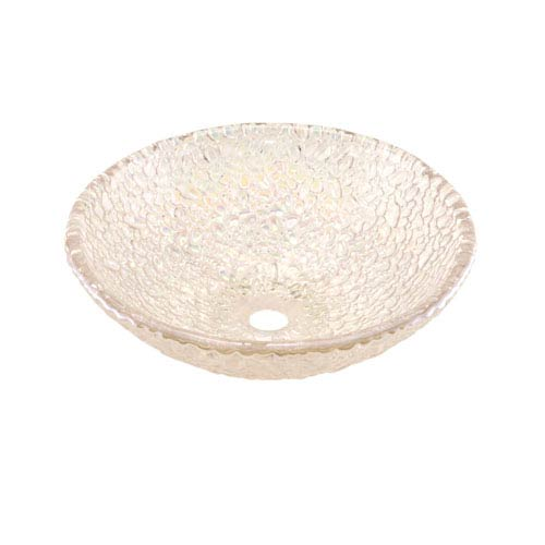 Crystal Reflections Pebble 16-Inch Vessel