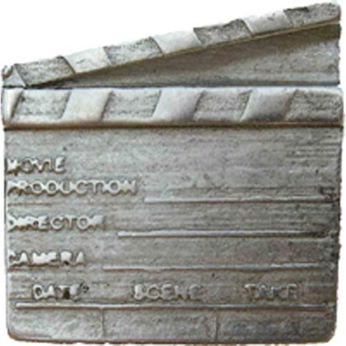 Silver Screen Director Slate Knob - Warm Pewter