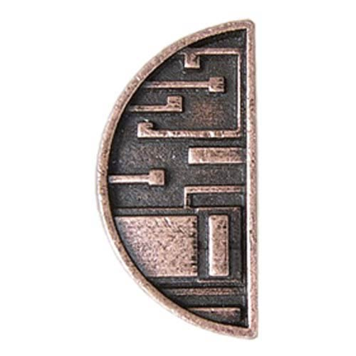 Mission  Half Circle Knob - Old World Copper