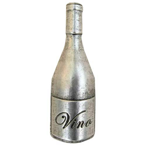 Cocktail Hour Wine Bottle Knob - Warm Pewter