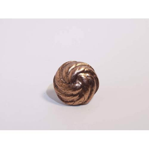 Spiral Knob - Antique Matte Copper