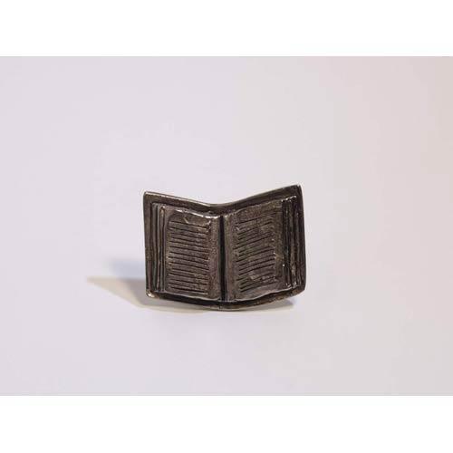 Book Knob - Antique Matte Silver