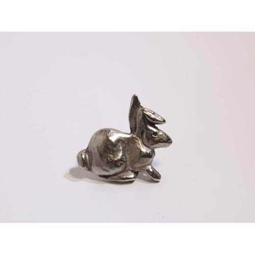 Rabbit Knob - Antique Matte Silver