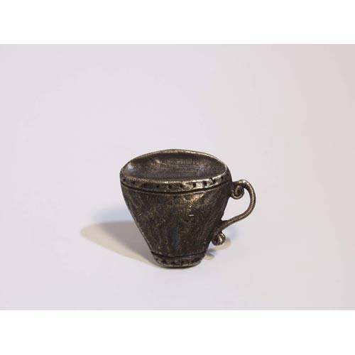 Teacup Knob - Antique Matte Brass