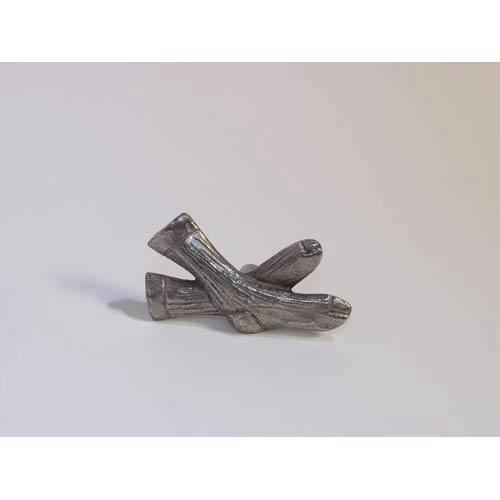Socks Knob - Antique Matte Silver