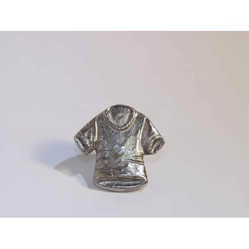 T-Shirt Knob - Antique Matte Silver