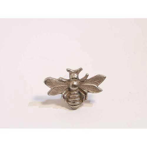 Bee Knob - Antique Matte Silver