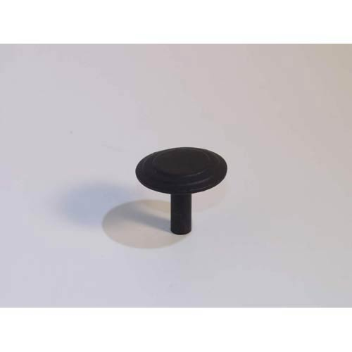 Three-ringed Dome Knob - Black