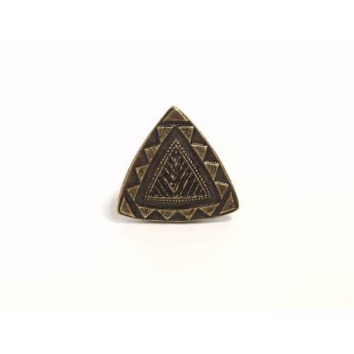 Southwestern Triangle Knob - Antique Matte Brass