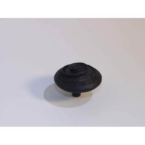 Texture with Rope Knob - Black