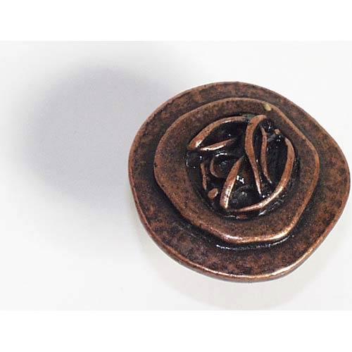 Freeform Bone Knob - Antique Matte Copper