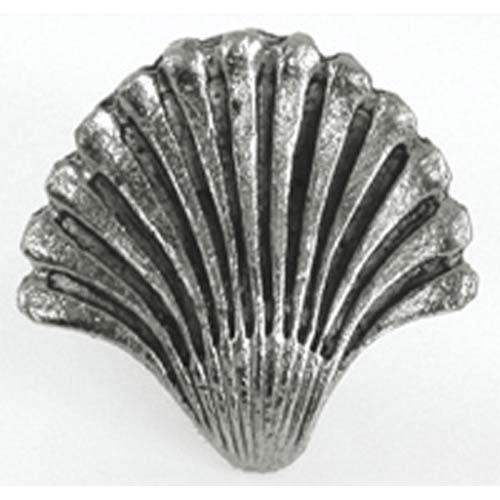 Seashell Fan Knob - Antique Matte Silver