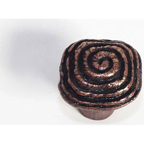 Swirl Knob - Antique Matte Copper