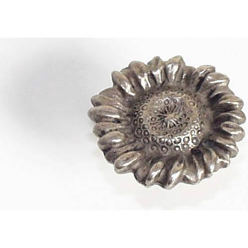 Sunflower Knob - Antique Matte Silver