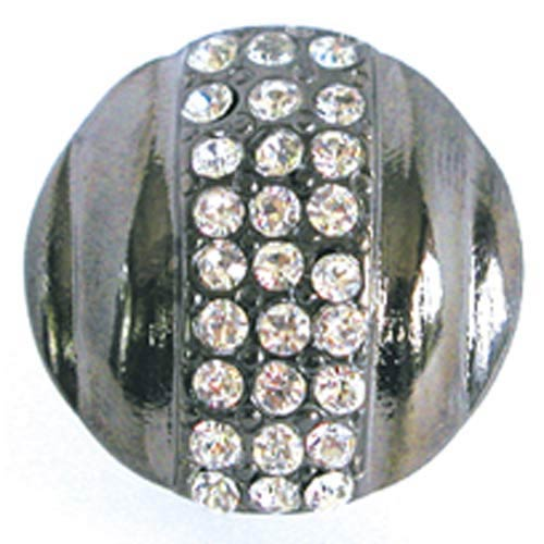 Small Round Rhinestone Knob - Bright Silver