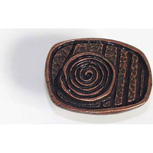 Swirl Design Knob - Antique Matte Copper