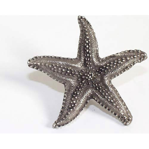 Starfish Knob - Antique Matte Silver