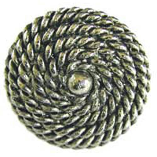 Rope Knob   Antique Matte Brass