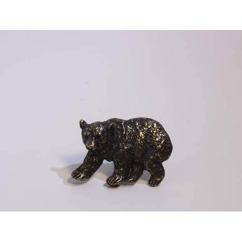 Bear Knob - Antique Matte Brass