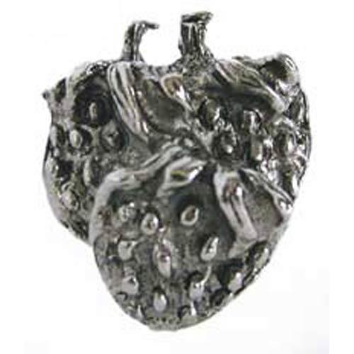 Strawberries Knob - Antique Matte Silver