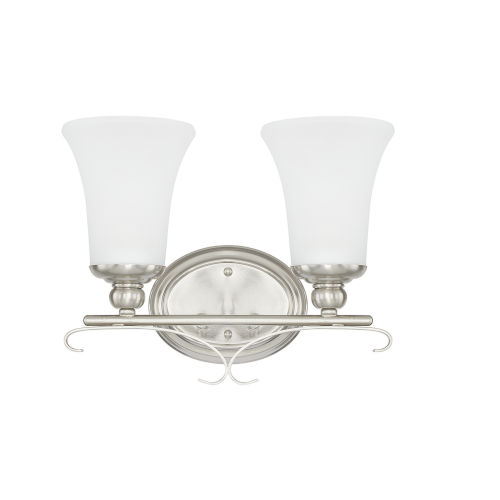 HomePlace Griffin Brushed Nickel 14-Inch Two-Light Bath Vanity