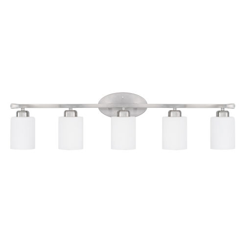 HomePlace Dixon Brushed Nickel 37-Inch Five-Light Bath Vanity