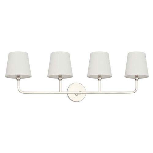Dawson Polished Nickel Four-Light Vanity