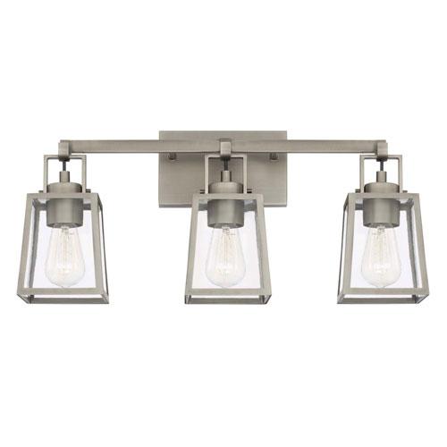 Kenner Antique Nickel Three-Light Vanity