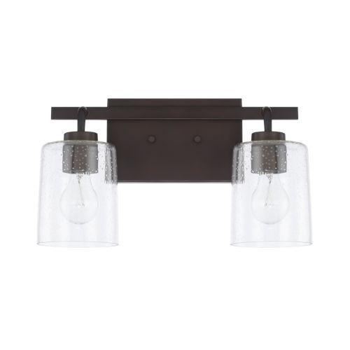 HomePlace Greyson Bronze 15-Inch Two-Light Bath Vanity