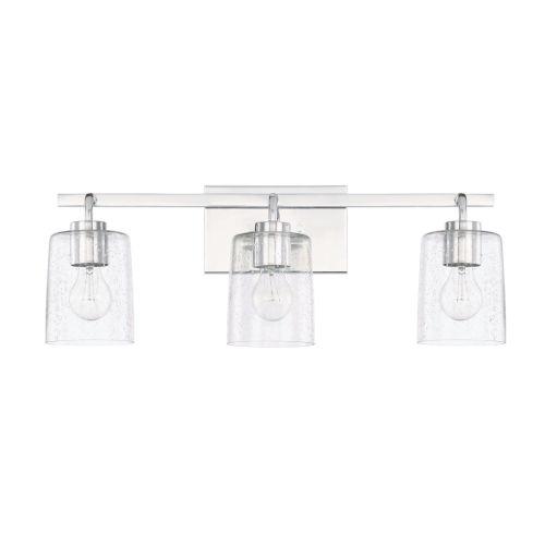 HomePlace Greyson Chrome 25-Inch Three-Light Bath Vanity