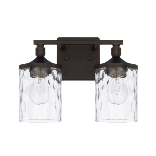 HomePlace Colton Bronze 13-Inch Two-Light Bath Vanity