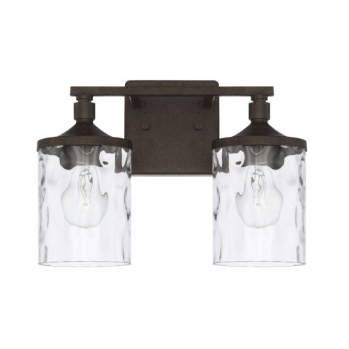 HomePlace Collier Urban Brown 13-Inch Two-Light Bath Vanity