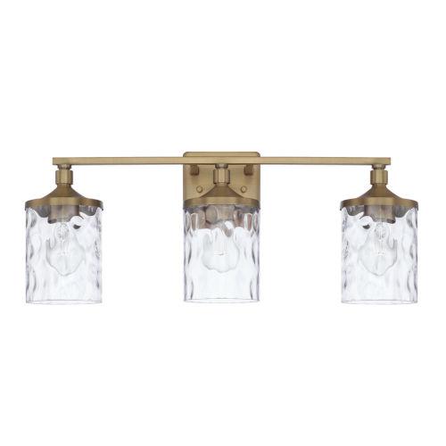 HomePlace Colton Aged Brass 24-Inch Three-Light Bath Vanity