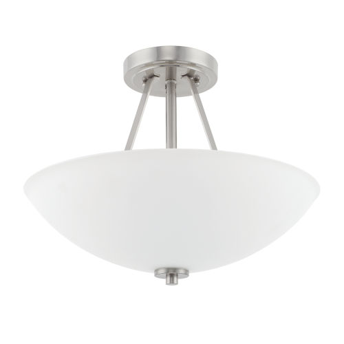 HomePlace Brushed Nickel 16-Inch Two-Light Semi Flushmount