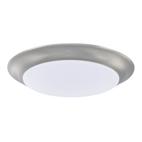 HomePlace Brushed Nickel Eight-Inch LED Flushmount