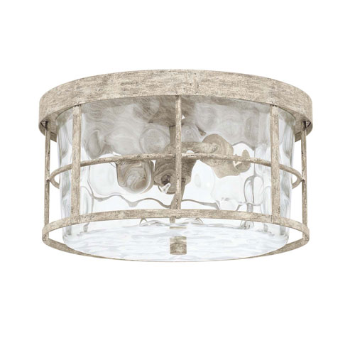 Beaufort Gray Two Light Flush Mount