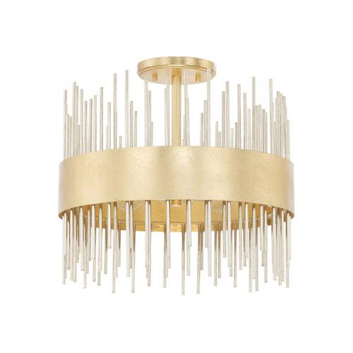 Lena Gold Four-Light Semi-Flush Mount