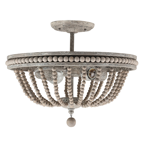 Kayla Mystic Sand Two-Light Semi Flush