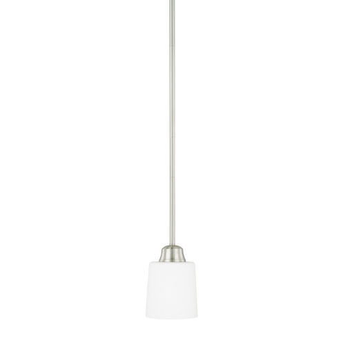 HomePlace Hayden Brushed Nickel 53-Inch One-Light Mini Pendant