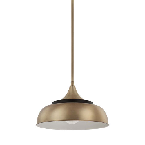 Brass One-Light Pendant