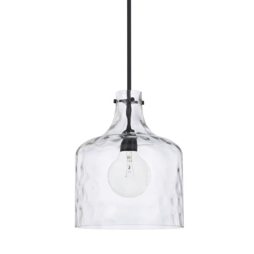 HomePlace Matte Black 15-Inch One-Light Pendant