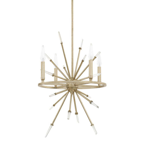 Adira Winter Gold 16-Inch Four-Light Pendant