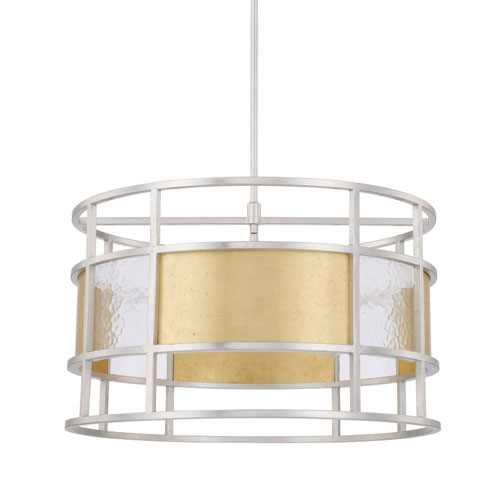 Mixed Metal 24-Inch Four-Light Pendant