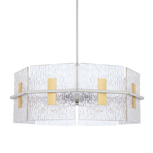 Mixed Metal 26-Inch Four-Light Pendant