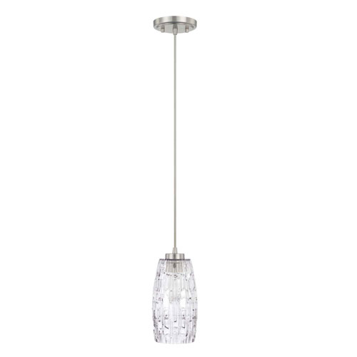 Capital Lighting Fixture Company Brushed Nickel One-Light Pendant